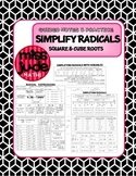 Simplify Radicals Guided Notes & Practice