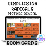 Simplify Radicals Picture Reveal Boom Cards--Digital Task Cards