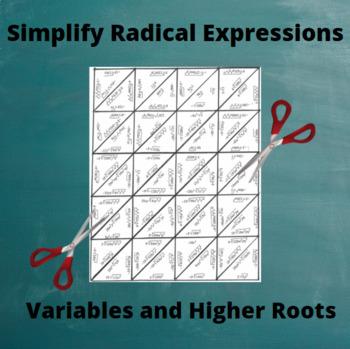 Simplify Radicals Puzzle