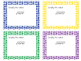 Simplify Radicals Task Cards
