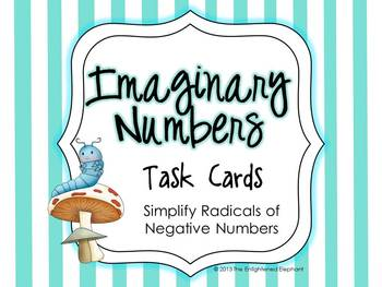 Simplify Radicals of Negative Numbers Task Cards