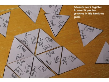 Simplify Radicals with Variables Puzzle