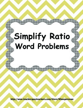 Ratio Word Problems