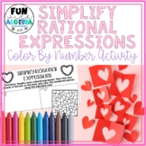 Simplify Rational Expression Color By Number {Valentine's Day}