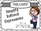 Simplify Rational Expressions Task Cards
