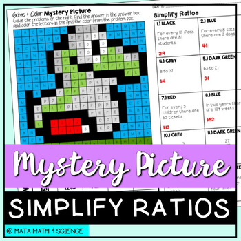 Simplify Ratios: Mystery Picture (Super Mario Bros.)