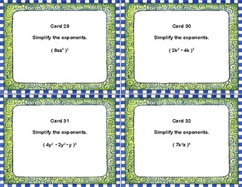Simplify the Exponents-Power of Products Rule Practice