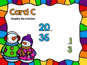 Simplify the Fraction Looping Scavenger Hunt