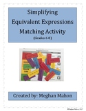 Simplifying Algebraic Expressions Activity