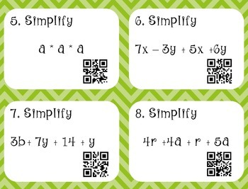 Simplifying Algebraic Expressions (Aligned to CCSS 6.EE.4 and 7.EE.1)