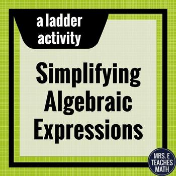 Algebraic Expressions Chain Activity