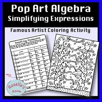 Simplifying Algebraic Expressions Coloring Activity