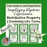 Distributive Property & Combining Like Terms Bundle