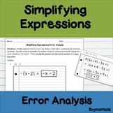 Simplifying Algebraic Expressions Error Analysis