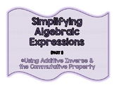 Simplifying Algebraic Expressions Foldables (2 activities)