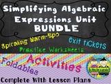 Algebra: Simplifying Algebraic Expressions Mega Bundle