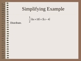 Simplifying Algebraic Expressions PowerPoint