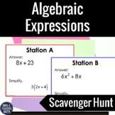 Algebraic Expressions Scavenger Hunt