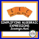 Simplifying Algebraic Expressions - Scavenger Hunt Activity
