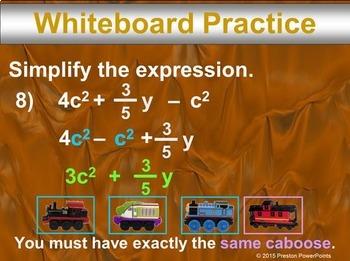 (7th) Algebraic Expressions in a PowerPoint Presentation