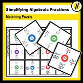 Simplifying Algebraic Fractions Puzzle
