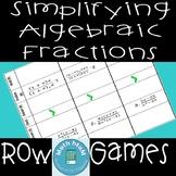 Simplifying Algebraic Fractions Row Games
