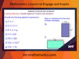 Simplifying Algebraic Products