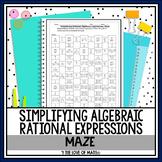 Simplifying Algebraic Rational Expressions: Maze