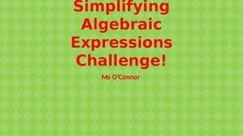 Simplifying Algebratic Expressions