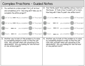 Simplifying Complex Fractions - 7.RP.1
