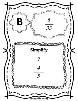 Simplifying Complex Fractions Scavenger Hunt