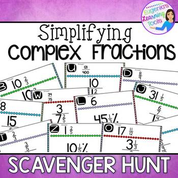 Complex Fractions Scavenger Hunt