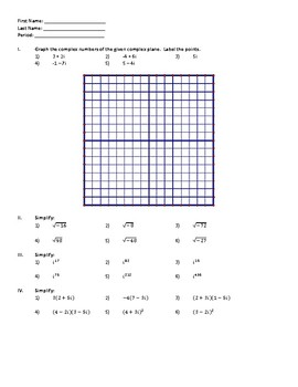 Simplifying Complex Numbers