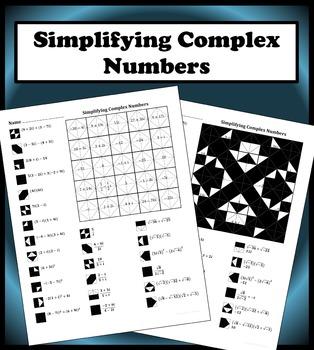 Simplifying Complex Numbers Color Worksheet