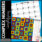 Complex Numbers (Imaginary Numbers) Granny Squares Coloring Activity