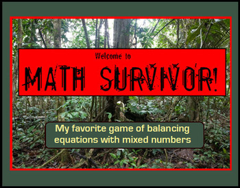 Simplifying Equations with Mixed Numbers --Class Game