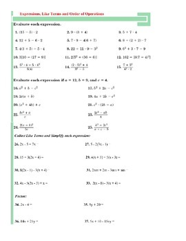 Simplifying &Evaluating Expressions - Intro Factoring & Distribution - Fractions