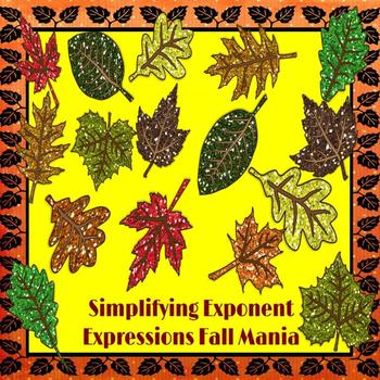 Simplifying Exponent Expressions: Fall Mania PowerPoint Game