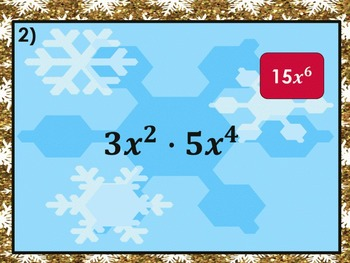 Simplifying Exponent Expressions: Holiday Smash PowerPoint