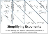 Simplifying Exponential Expressions Puzzle