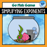Simplifying Exponents Activity - Go Fish! Game