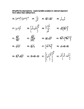 Simplifying Exponents Review