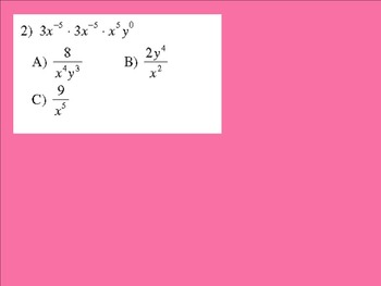 Simplifying Exponents Smart Response Activity/Lesson