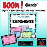Exponent Rules with BOOM Cards Digital 1:1 Algebra