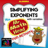 Simplifying Exponents with Mr. Math Head