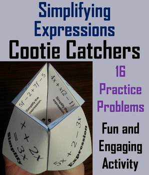 Simplifying Expressions Practice Activity/ Distribute & Combine Like Terms