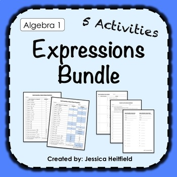 Simplifying Expressions Activity Bundle: Fix Common Mistakes!
