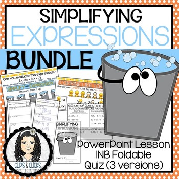 Simplifying Expressions BUNDLE