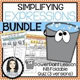 Simplifying Expressions BUNDLE