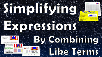 Simplifying Expressions By Combining Like Terms